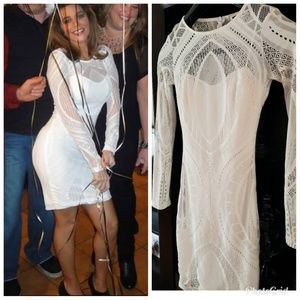 Dresses & Skirts - White lace dress w white underlay/XS-S